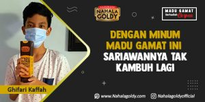 Read more about the article Dengan Minum Madu Gamat ini Sariawannya Tak Kambuh Lagi